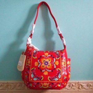 Anuschka NEW Handpainted Artisan Hobo Bag Boho